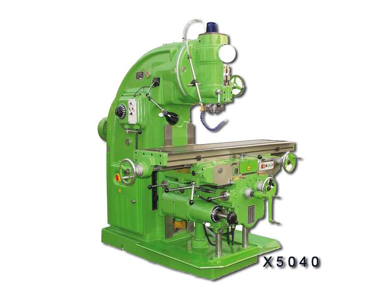 x5040立式铣床主轴锥孔可直接或通过附件安装各种圆柱铣刀,圆片铣刀图片